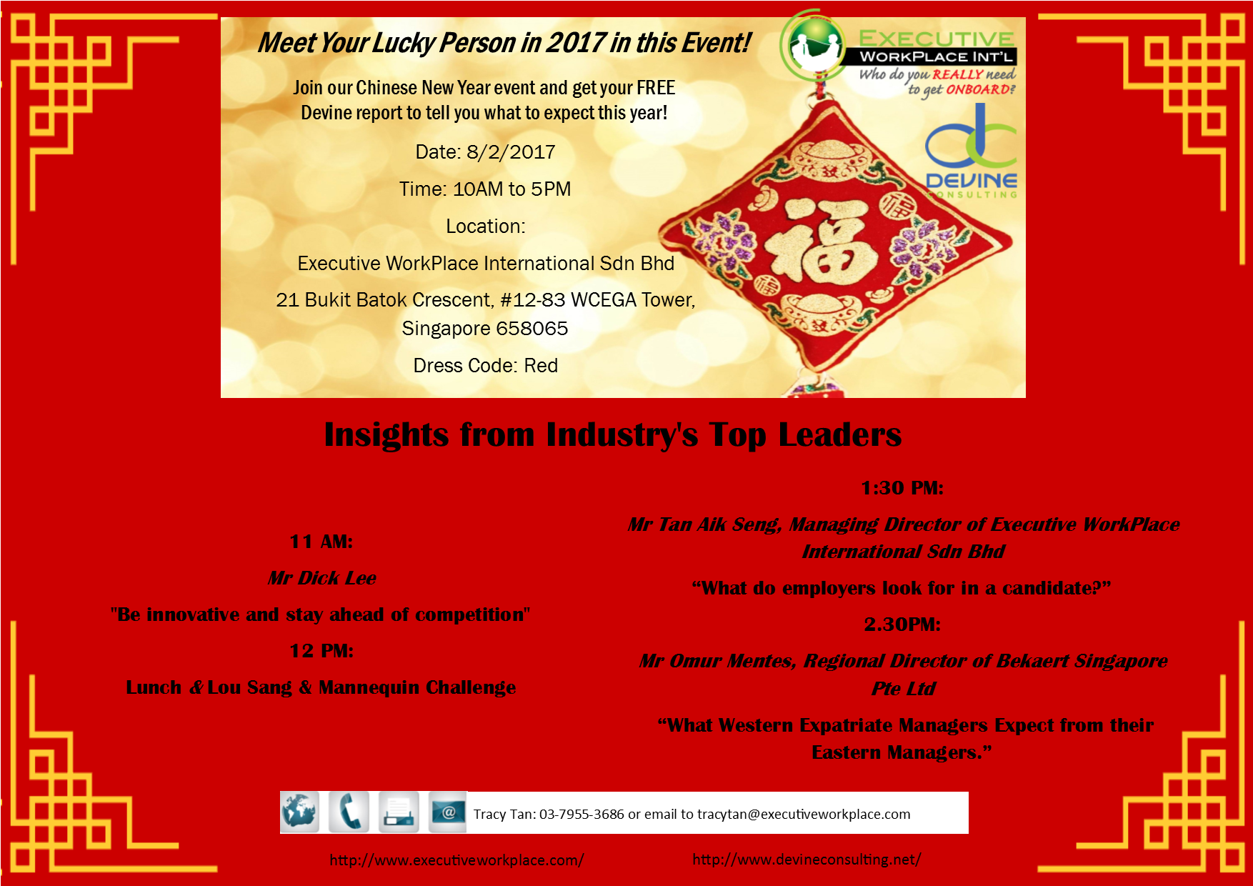 CNY E-Invitation & Event Itinerary (SG)